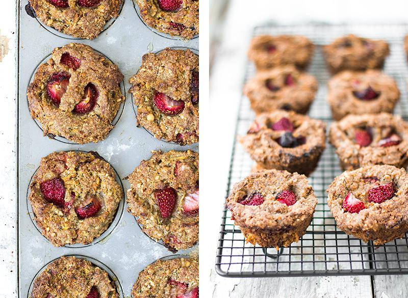 strawberry & brazil nut muffins | jessica cox