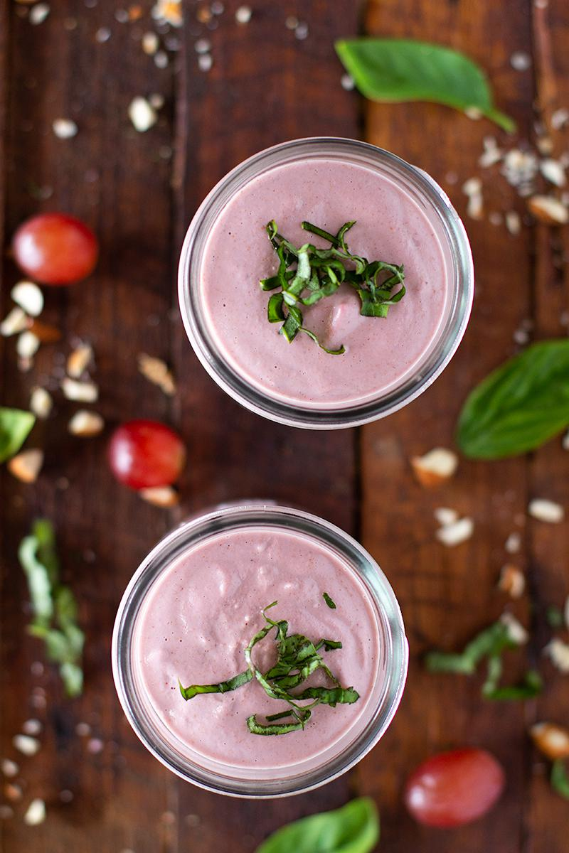 jessica cox | raspberry & red grape almond yogurt