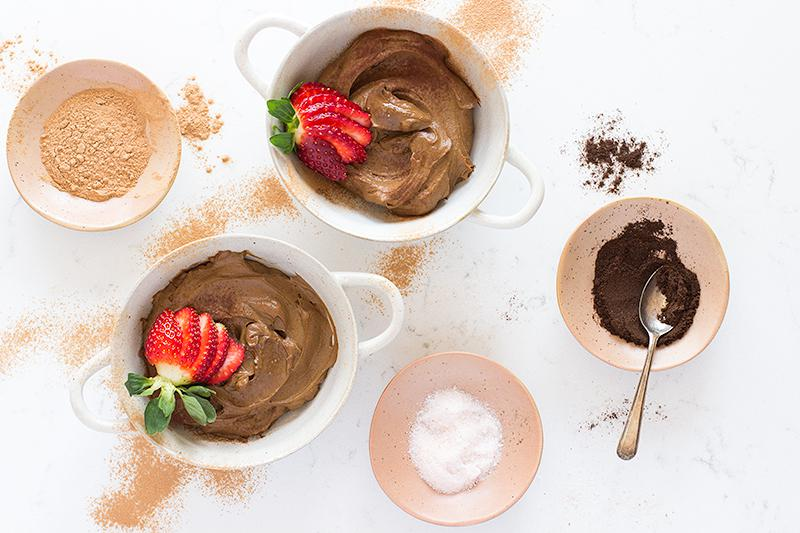 avocado chocolate mousse | jessica cox