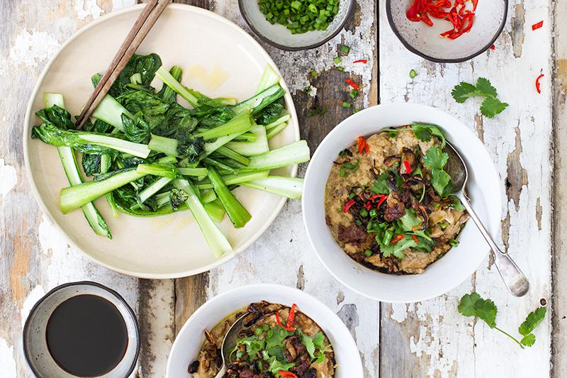chicken & brown rice congee | jessica cox