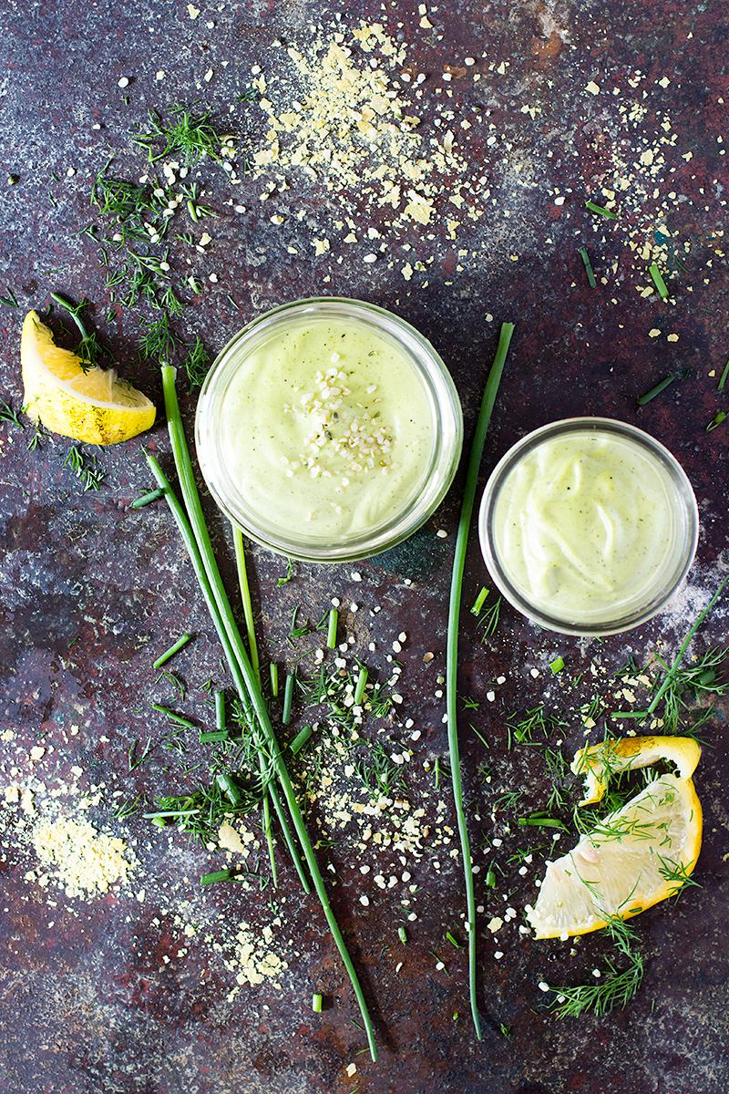 jessica cox | cashew hemp cheese w dill & chives (fodmap friendly)