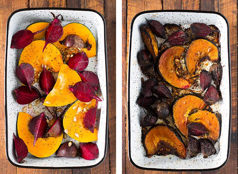 jessica cox | slow roasted pumpkin & beets w salsa verde parsley dressing