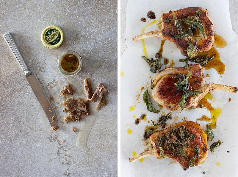 crispy sage and anchovy pork | jessica cox