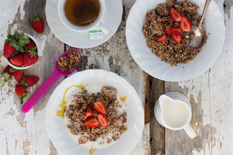 jessica cox | strawberry & coconut granola