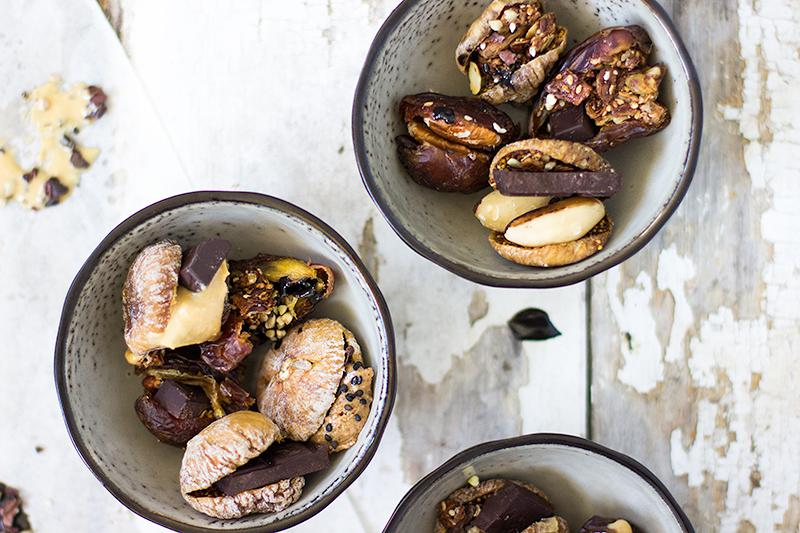 jessica cox | nut butter stuffed dates & figs + how to incorporate dessert