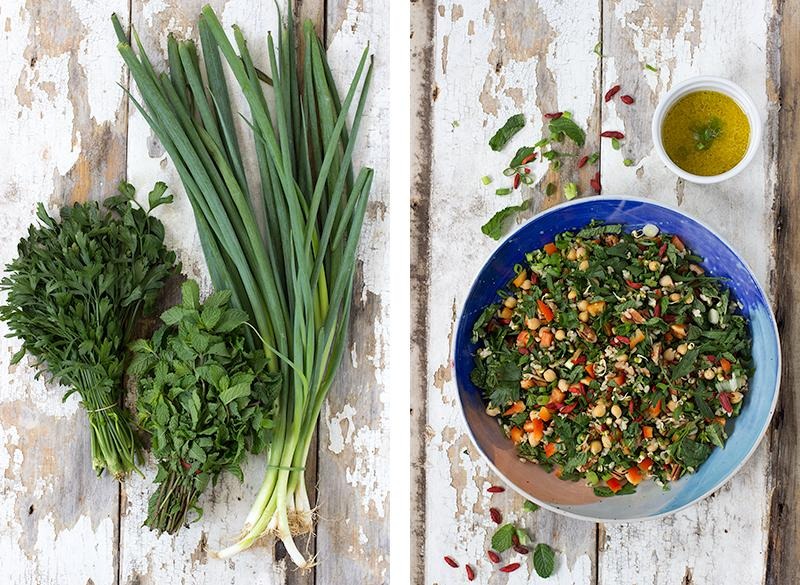 JESSICA COX | summer salad w goji berries + ginger dressing