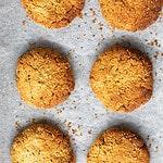 gluten free anzac cookies w hemp seeds