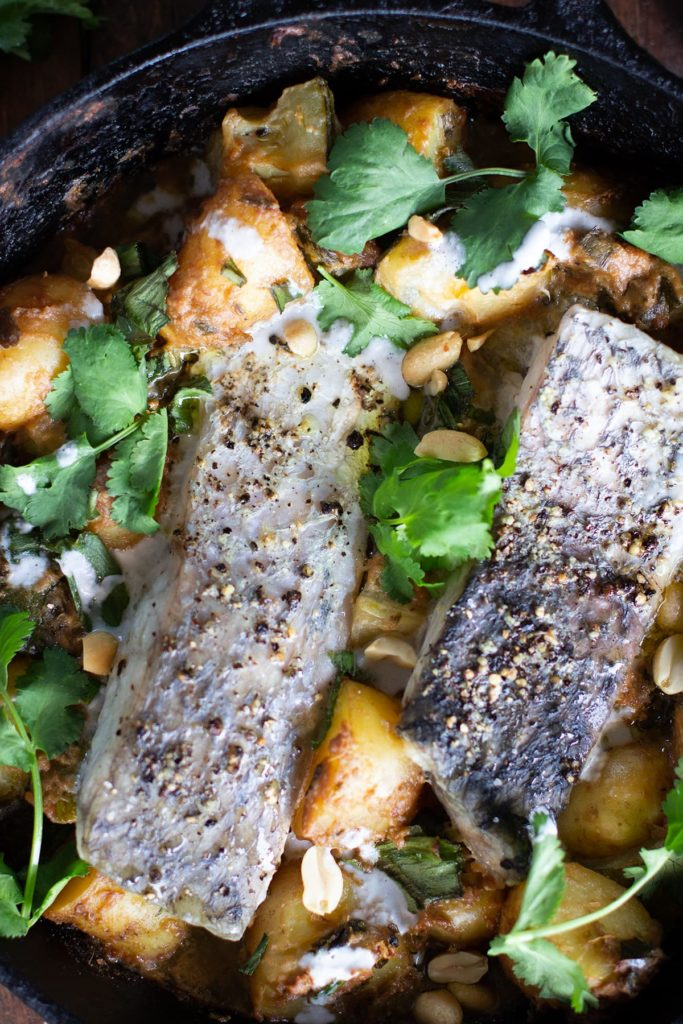 Baked One Pot Fish Curry Low Fodmap