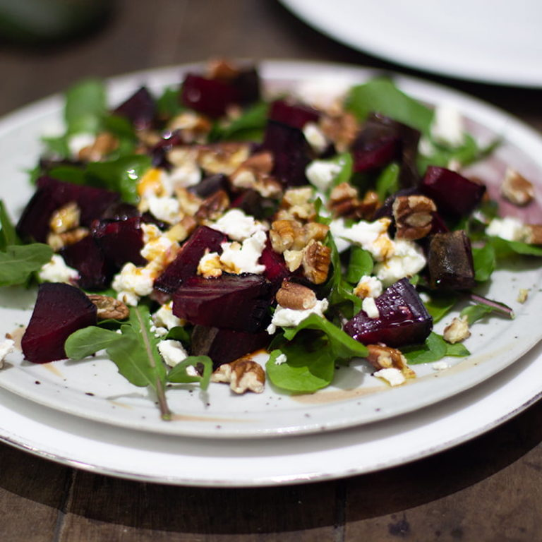 Beetroot Goat Cheese Pecan Salad