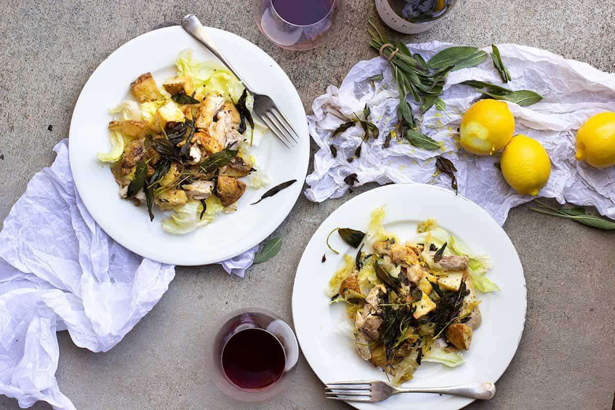 Chicken Roast Potato Lemon & Sage Salad