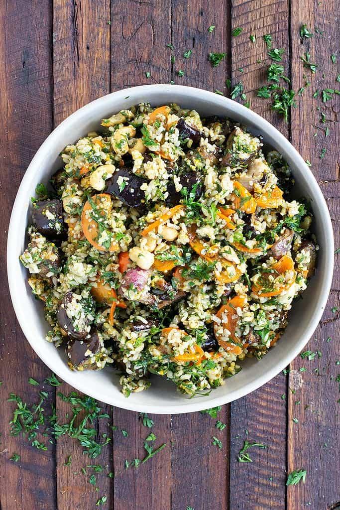 Eggplant-Persimmon-Brown-Rice-Salad