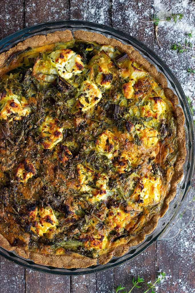 Gluten Free Silverbeet, Spring Onion & Herb Quiche
