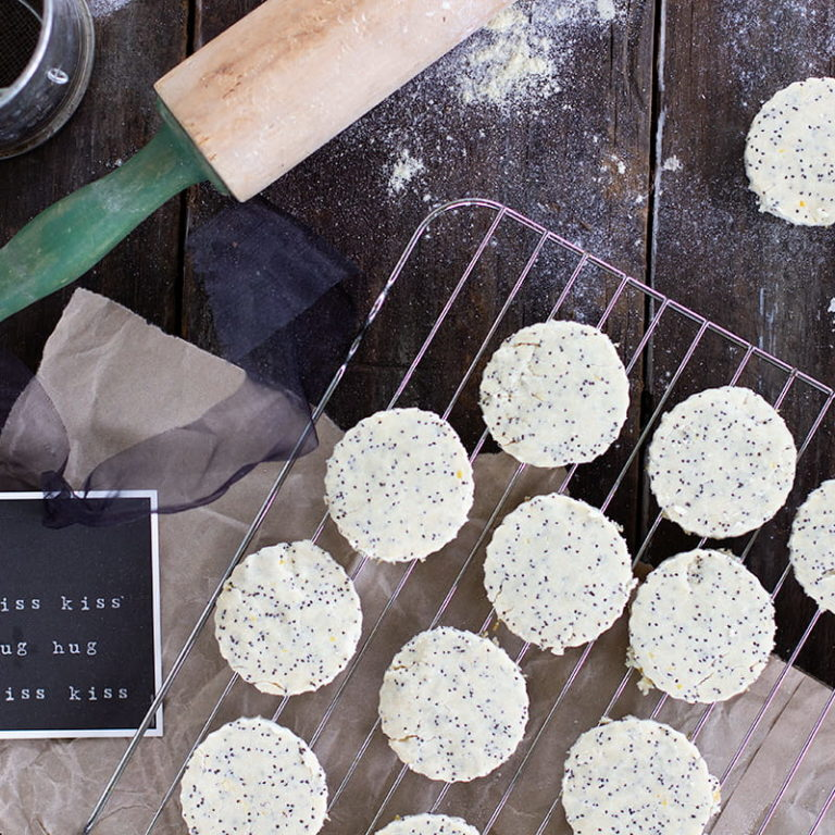 Gluten Free Lemon Poppy Seed Shortbread