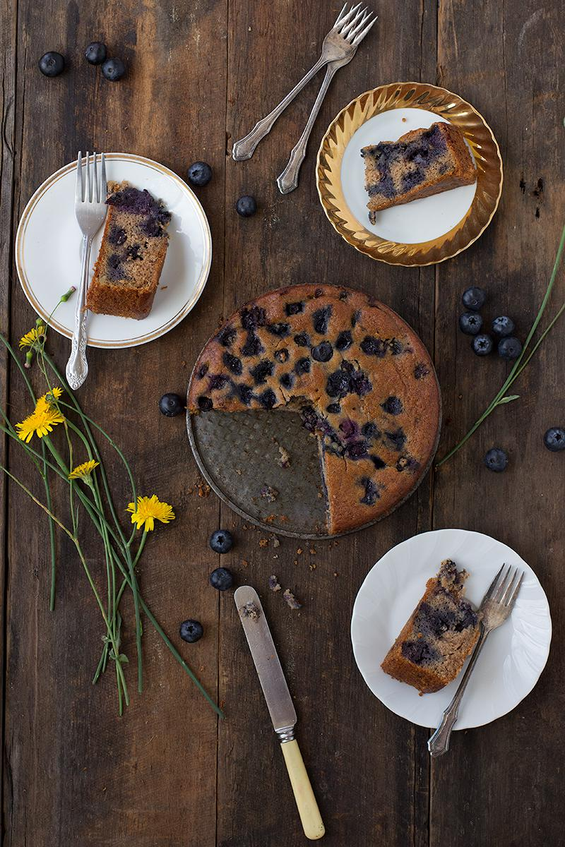 blueberry & almond teacake | jessica cox