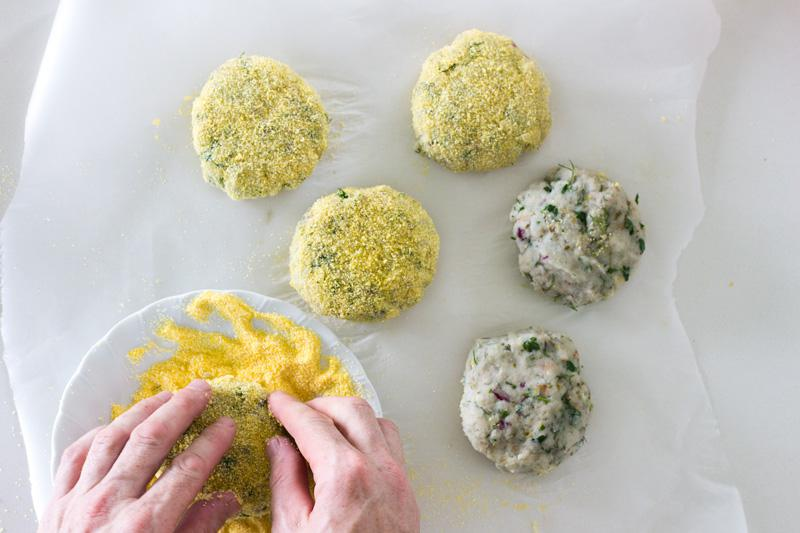 dill and parsley fish patties | jessica cox