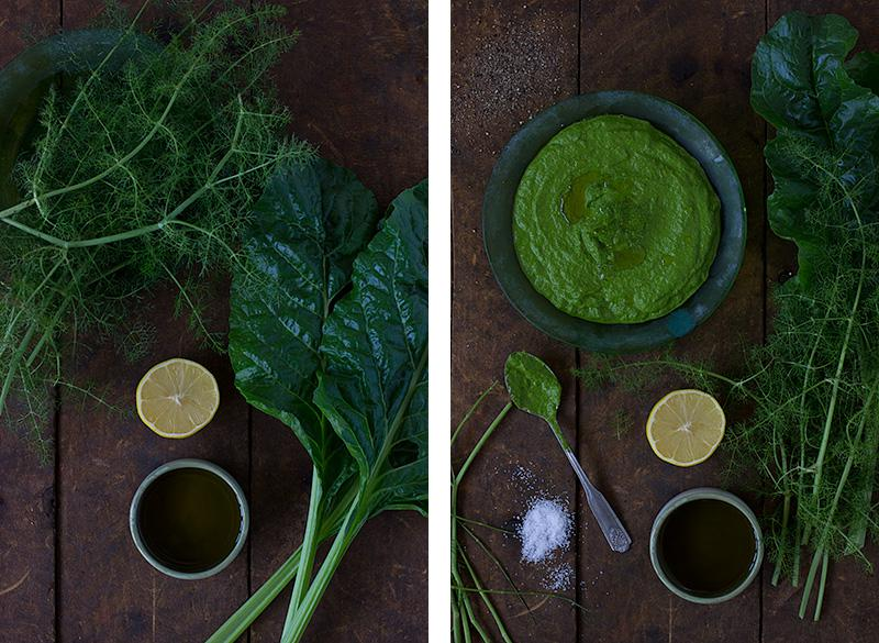jessica cox | silverbeet and dill pesto