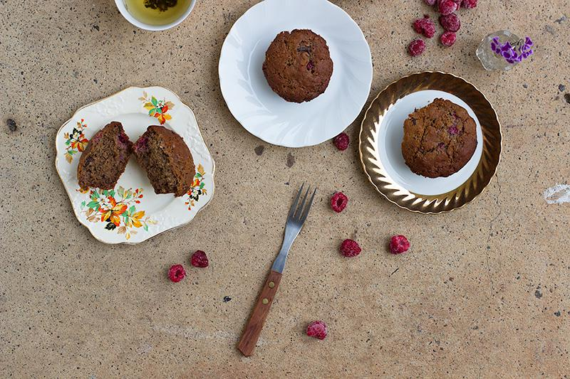 jessica cox | raspberry chocolate chip muffins