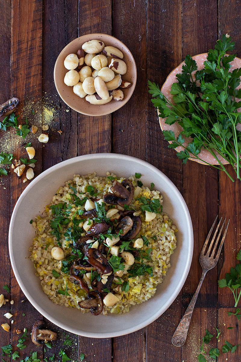 the best mushroom & leek buckwheat risotto | jessica cox