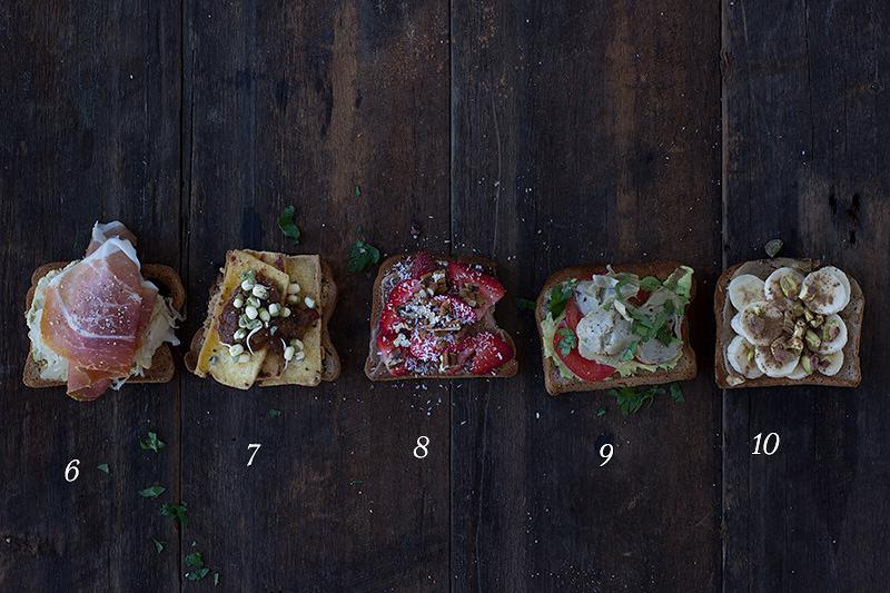 healthy toast toppers recipe