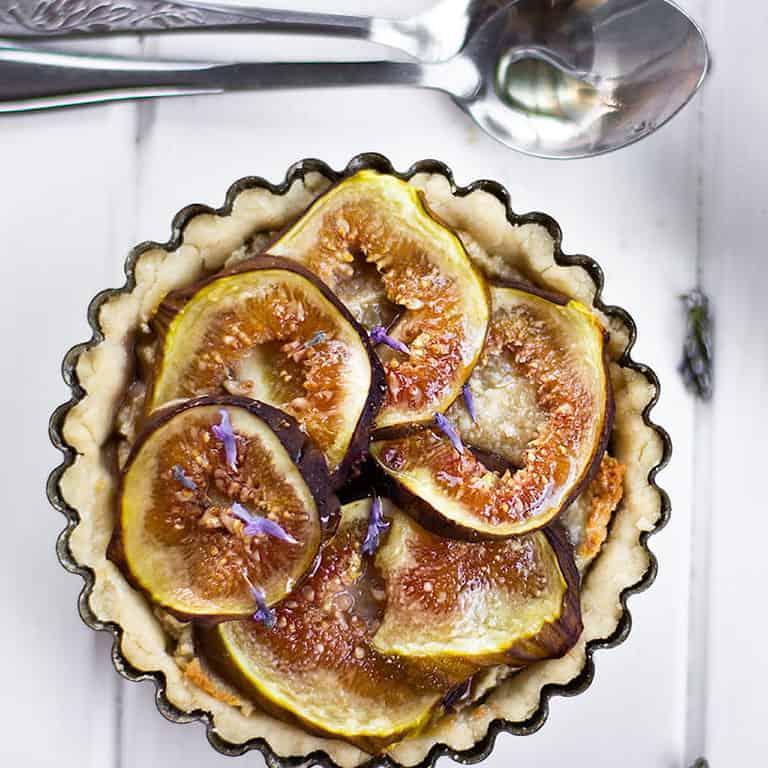 gluten free lavender & fig tarts