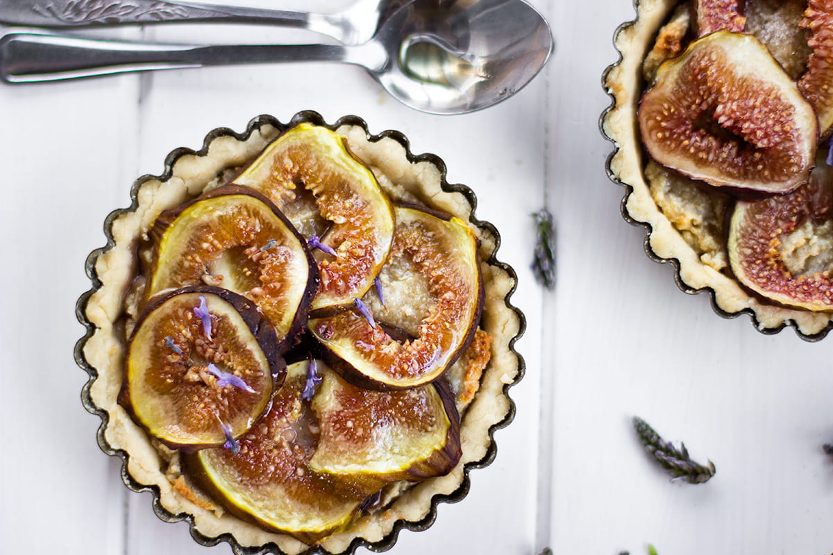 gluten free lavender tarts