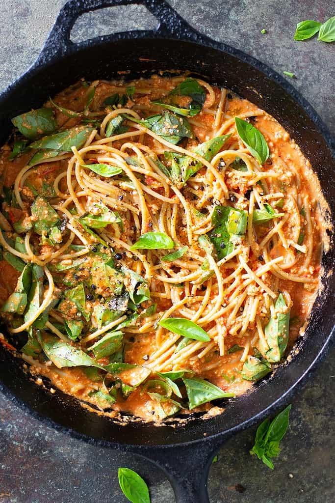 Roast Tomato Basil Pasta