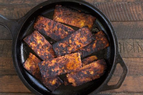 Easy Marinated Fried Tempeh
