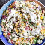 millet salad w creamy mustard dressing
