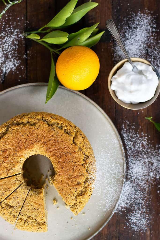 Orange & Poppy Seed Cake (Gluten Free Vegan)