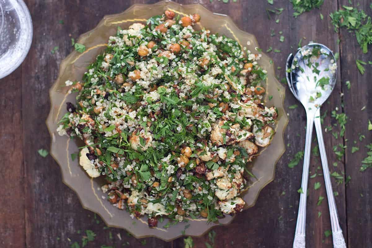 Quinoa Cauliflower Chickpea Salad