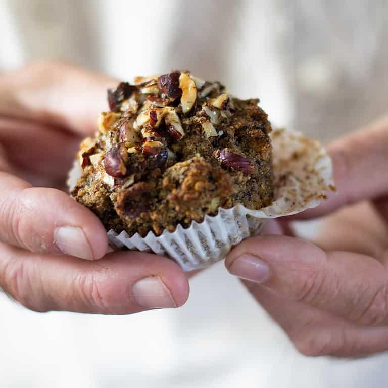 Quinoa Hazelnut Crumble Muffins