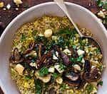 the best mushroom & leek buckwheat risotto