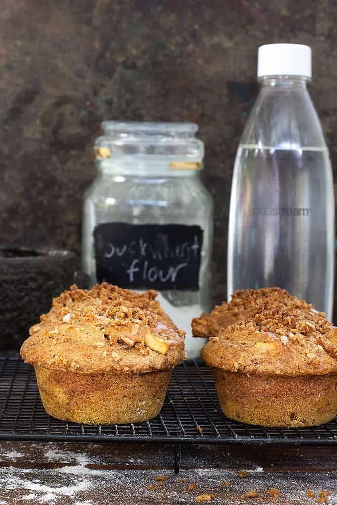 Spiced Apple Muffins (Gluten Free + Vegan)