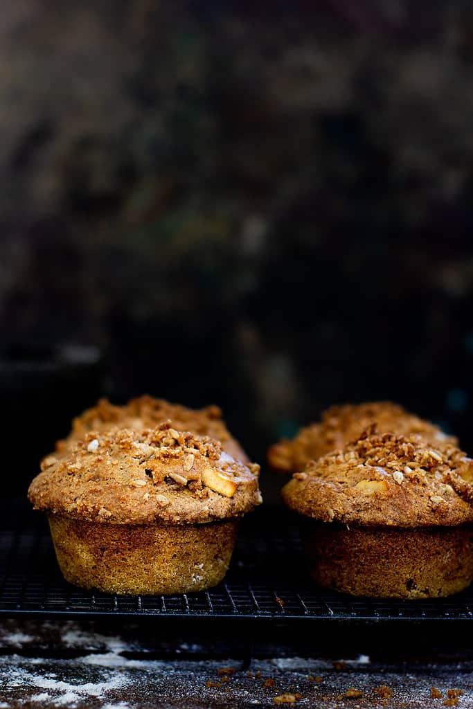 Spiced Apple Muffins (Gluten Free Vegan)