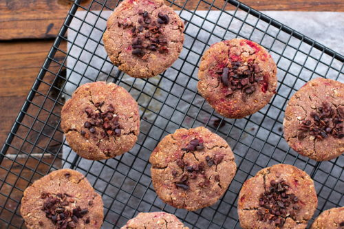 Raspberry Coconut Cookies