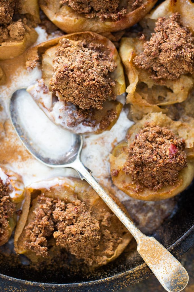 Spiced Pecan Stuffed Baked Apples