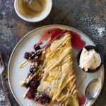 sweet omelette with berries