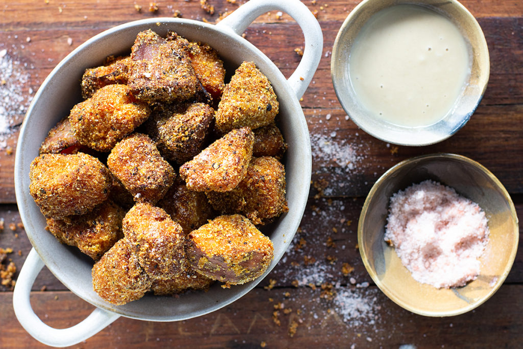 Crumbed Sweet Potato Nuggets