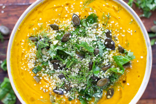 Sweet Potato Pumpkin & Turmeric Soup