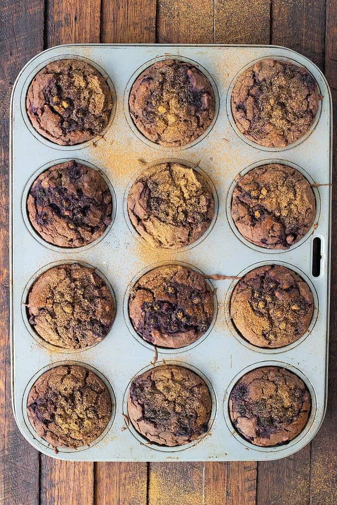 Vanilla Blueberry Muffins