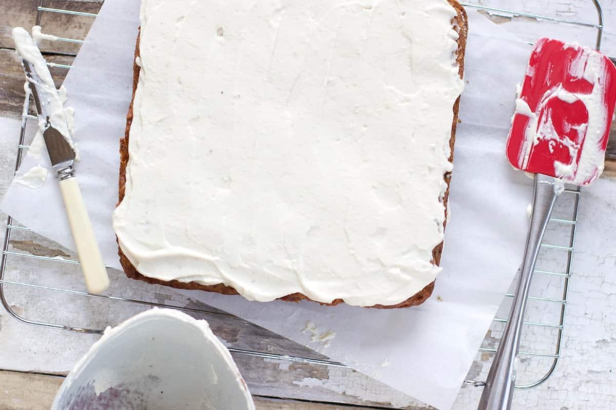 Vegan Pumpkin Banana Cake w Vanilla Frosting Recipe